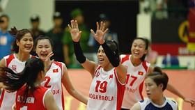 Tuyển Việt Nam đoạt ngôi á quân giải VTV cúp 2019. Ảnh: MINH HOÀNG