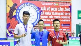 Hình ảnh đăng quang của Nguyễn Tiến Minh tại giải vô địch cá nhân toàn quốc 2019. Ảnh: Trung Hồ