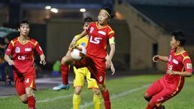 Huỳnh Như cùng TPHCM I vươn lên ngôi đầu bảng sau vòng 5. Ảnh: ANH TRẦN