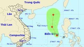 Biển Đông xuất hiện áp thấp nhiệt đới đầu tiên trong năm 2017