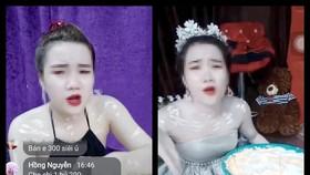 Những chậu kem trộn đắt hàng được livestream trên mạng xã hội
