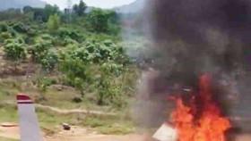 Máy bay quân sự rơi tại Khánh Hòa, 2 phi công hy sinh