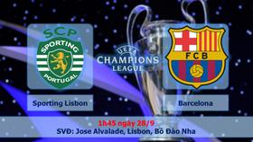 Bảng D: Sporting Lisbon - Barcelona 0-1