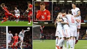 Xứ Wales - Tây Ban Nha 1-4: Alcacer lập cú đúp, Ramos, Bartra góp công