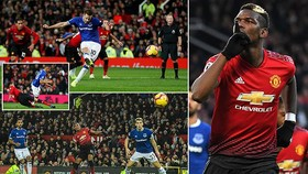 Man United - Everton 2-1: Pogba, Martial giúp Mourinho giữ vị trí thứ 8