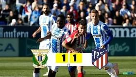 Leganes - Atletico 1-1: Griezmann ghi bàn, Carrillo cầm chân HLV Simeone