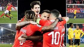 Thụy Sĩ - Bỉ 5-2: Rodriguez, Seferovic, Elvedi ngược dòng trút mưa gôn