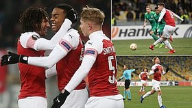 "Vorskla Poltava - Arsenal 0-3: Smith-Rowe, Ramsey, Willock tưng bừng ""bắn phá"""