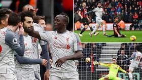 Bournemouth - Liverpool 0-4: Salah trở lại và lập cú hat-trick