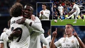 Real Madrid - Leganes 3-0: Cựu binh Ramos ghi bàn, Vazquez lập công, Vinicius lập siêu phẩm