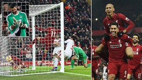 Liverpool - Crystal Palace 4-3: Bộ tứ Salah, Firmino, Salah, Mane giúp Klopp củng cố ngôi đầu
