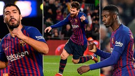 Barcelona - Leganes 3-1: Dembele mở tỷ số, 2 cựu binh Suarez, Messi ấn định chiến thắng