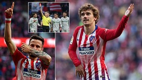 Atletico Madrid - Getafe 2-0: Griezmann và Saul Niguez tỏa sáng, Diego Simeone bám đuổi Barca