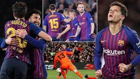 Barca - Sevilla 6-1 (chung cuộc 6-3): Coutinho, Rakitic, Sergi, Suarez, Messi bùng nổ 6 bàn thắng