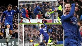 Chelsea - Huddersfield 5-0: Higuain, Hazard lập cú đúp, Luiz góp công chiến thắng 5 sao