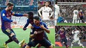 """Real Madrid - Barcelona 0-3 (chung cuộc 1-4): Suarez tỏa sáng, Varane """"tặng"""" Barca vé vào chung kết"""