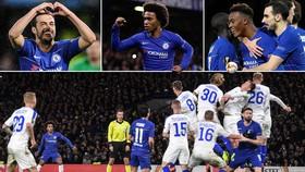 Chelsea - Dinamo Kyiv 3-0: Pedro, Willian, Odoi lập công, HLV Sarri đặt một chân vào tứ kết