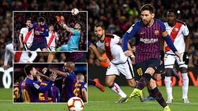 Barcelona - Rayo Vallecano 3-1: Raul de Tomas mở tỷ số, Pique, Messi, Suarez trút giận đối thủ