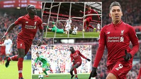 Liverpool - Burnley 4-2: Firmino, Mane thăng hoa, HLV Jurgen Klopp rút ngắn khoảng cách Man City