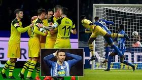 Hertha Berlin - Dortmund 2-3: Kalou lập cú đúp, Delaney, Zagadou, Reus đòi lại ngôi đầu từ Bayern
