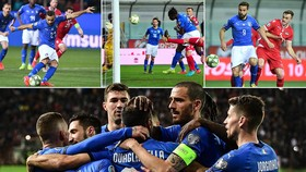 Italia - Liechtenstein 6-0: Sensi, Verratti, Quagliarella, Kean, Pavolett vui dập thủ thành Buchel