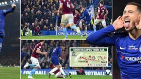 Chelsea - West Ham 2-0: Dấu ấn Eden Hazard và HLV Maurizio Sarri vào tốp 3