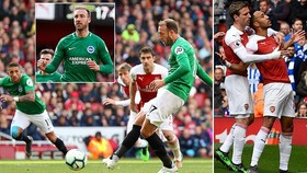 Arsenal - Brighton 1-1: Aubameyang sớm ghi bàn, Glenn Murray khiến HLV Unai Emery rớt khỏi tốp 4