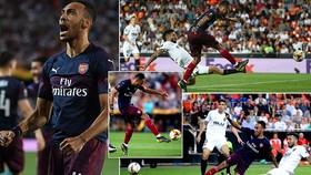 Valencia - Arsenal 2-4 (3-7): Aubameyang lập hattrick, Lacazette lập công, HLV Emery vào chung kết