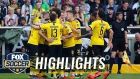 Monchengladbach - Dortmund 0-2: Sancho, Reus ghi bàn, thây trò HLV Lucien Favre về Nhì