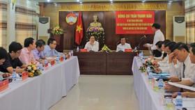 Chủ tịch UBTƯ MTTQ Việt Nam Trần Thanh Mẫn duyệt kế hoạch Đại hội MTTQ VN tỉnh Quảng Nam