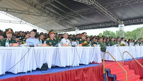 Các đại biểu tham dự buổi diễn tập