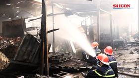 Bình Định: cháy chợ Cây Xăng