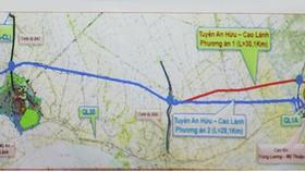 Hơn 5.000 tỷ đồng đầu tư tuyến cao tốc An Hữu – Cao Lãnh