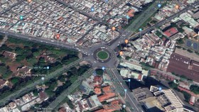 Nút giao thông Nguyễn Văn Cừ - Hùng Vương - Trần Phú. Ảnh: Google Maps