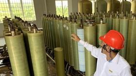 Bên trong khu xử lý nước thải bằng công nghệ lọc RO