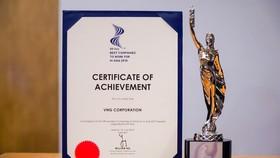 """VNG vinh dự đón nhận giải thưởng """"Nơi làm việc tốt nhất châu Á"""""""