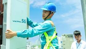 Trạm phát sóng 5G của Viettel tại TPHCM