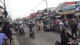 2 xe máy đâm vào nhóm công nhân xây dựng, 1 người chết