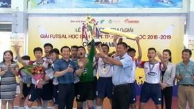 Trường Năng khiếu TDTT bảo vệ thành công ngôi vô địch