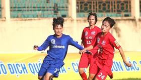 Đội Hà Nội vào tốp 3 sau chiến thắng trước TNG.Thái Nguyên. Ảnh: Anh Trần