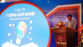 Quang cảnh lễ phát động Ý tưởng khởi nghiệp tỉnh Quảng Ngãi.