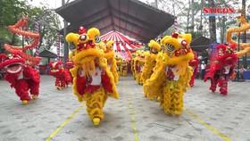 Đồng diễn 108 con lân xác lập Kỷ lục Guinness Việt Nam