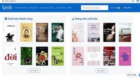 Giao diện của iPub.vn, nơi hứa hẹn làm nên chuyện cho ngành xuất bản trong thời gian tới