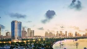 Bán đảo Thủ Thiêm nhìn từ trung tâm quận 1, TPHCM. Ảnh: Zing News