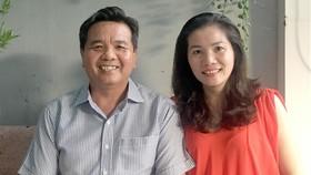 Vợ chồng anh Lê Thanh Hùng luôn đồng thuận trong những hoạt động thiện nguyện