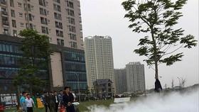 Người dân chung cư tập chữa cháy và cứu nạn