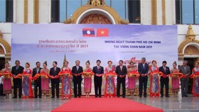 """In the opening ceremony of the """"HCM City days in Vientiane 2017"""" program"""