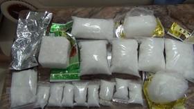 HCM City's police crack down a major drug trafficking ring, seizing a total of 9.4 kilogrammes of methamphetamine. (Photo: VNA)