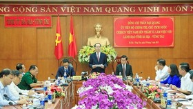 President Tran Dai Quang speaks at the working session (Source: VNA)