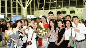 Miss Global 2017 Barbara Vitorelli arrives in Hanoi
